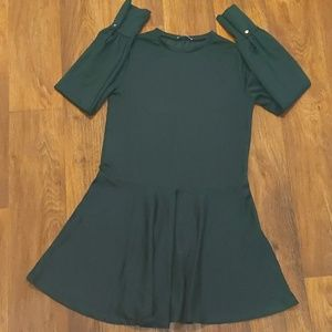 Zara Basic Green Long Sleeve Dress Size Medium